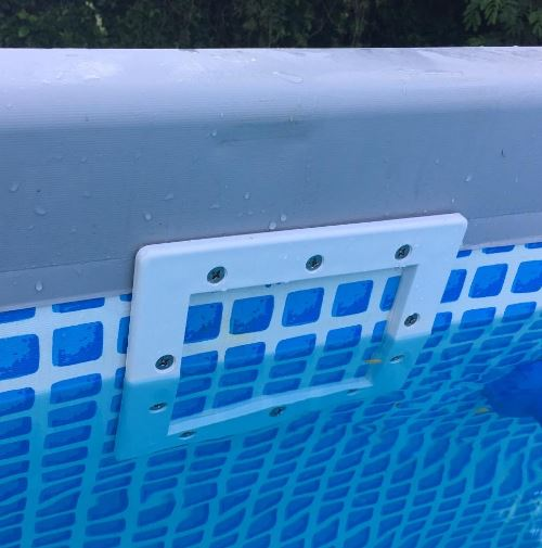 Skimmer installed before hole is cut